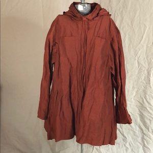 Eileen Fisher packable hood jacket lightweight 2XL